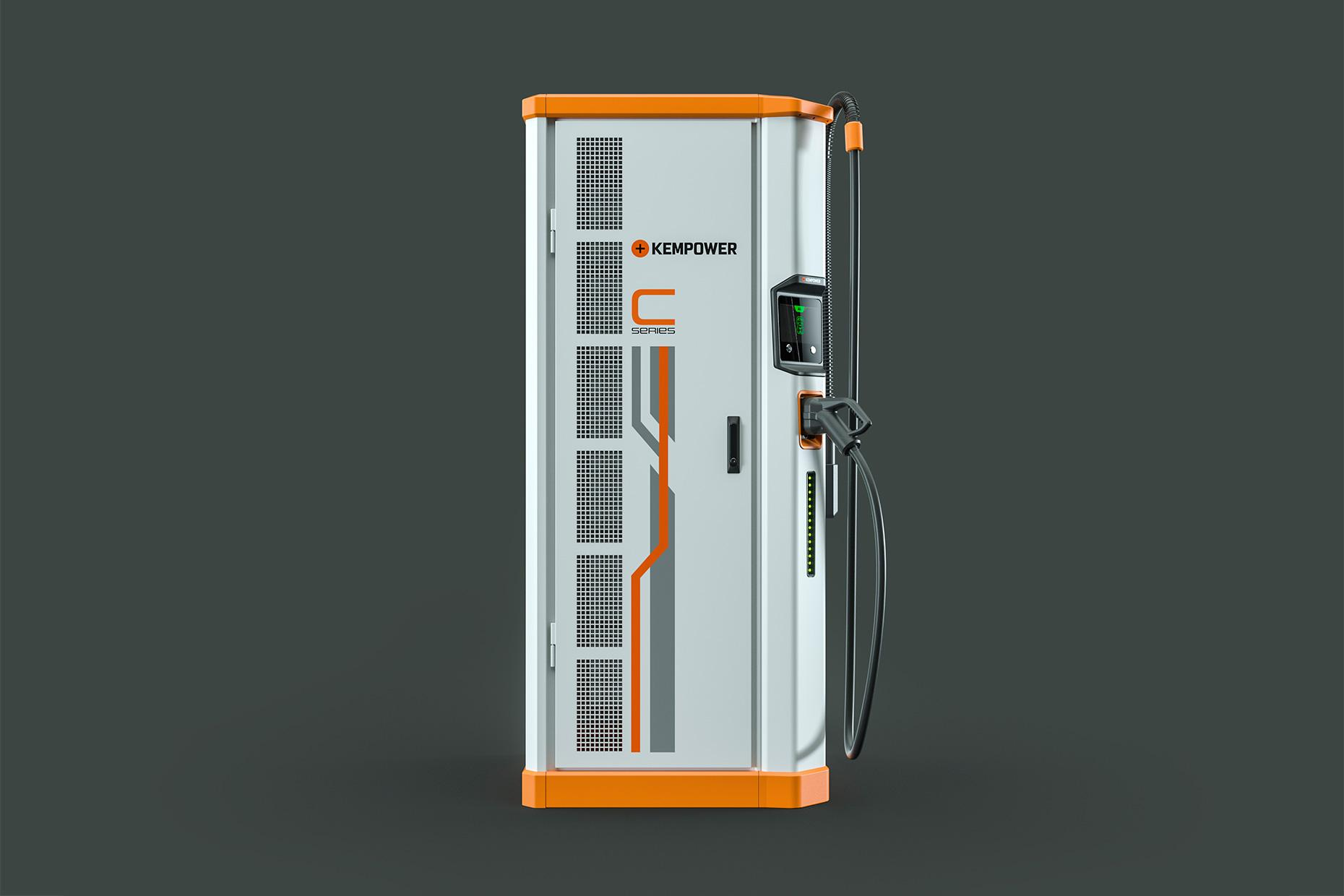 Kempower C-Series Fast-charging station for electric fleets, electric marine, and electric off-highway vehicles.